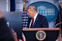 President Donald Trump sparkade den tidigare tillsynschefen vid amerikanska UD i maj. Arkivbild.