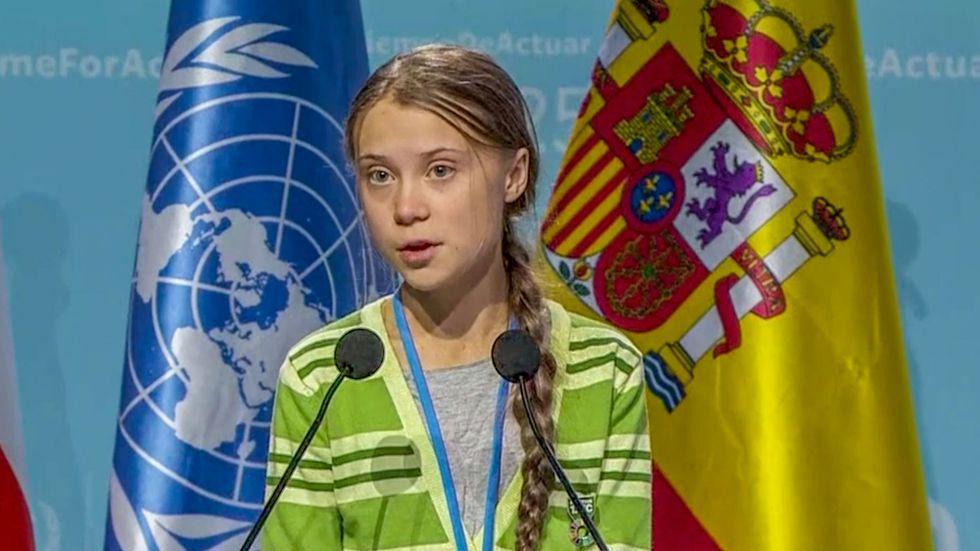 Greta Thunberg höll tal på FN:s klimatmöte.