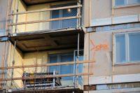 Bygge av bostäder på i Stockholm. Arkivbild.