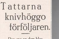 """""""Tattarna"""" hängdes ut med namn, hemort, och bilnummer i SvD 1930. """"Pressetiken och respekten för den personliga integriteten såg helt annorlunda ut då"""", konstaterar SvD:s chefredaktör Fredric Karén."""