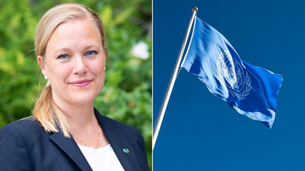 Annelie Börjesson, ordförande för Svenska FN-förbundet.