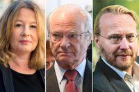 Åsa Linderborg, Kung Carl XVI Gustaf och Pelle Andersson