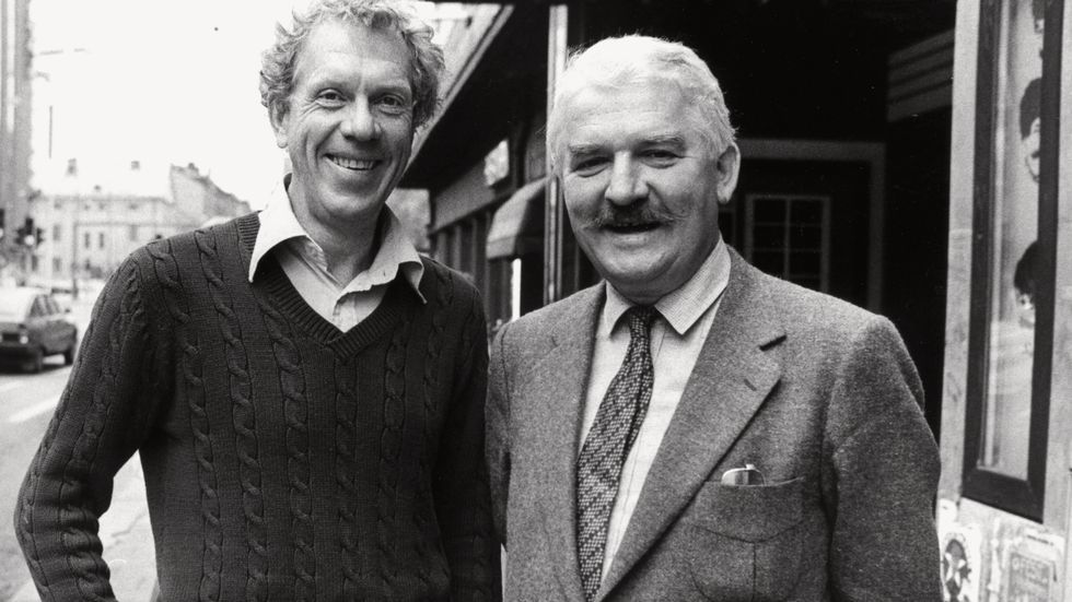 Tage Danielsson och Hasse Alfredson, 1982.