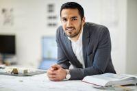 Mehrdad Mahdjoubi, 28-årig Malmöbaserad entreprenör och uppfinnare, nominerad med sin duschlösning Oas.