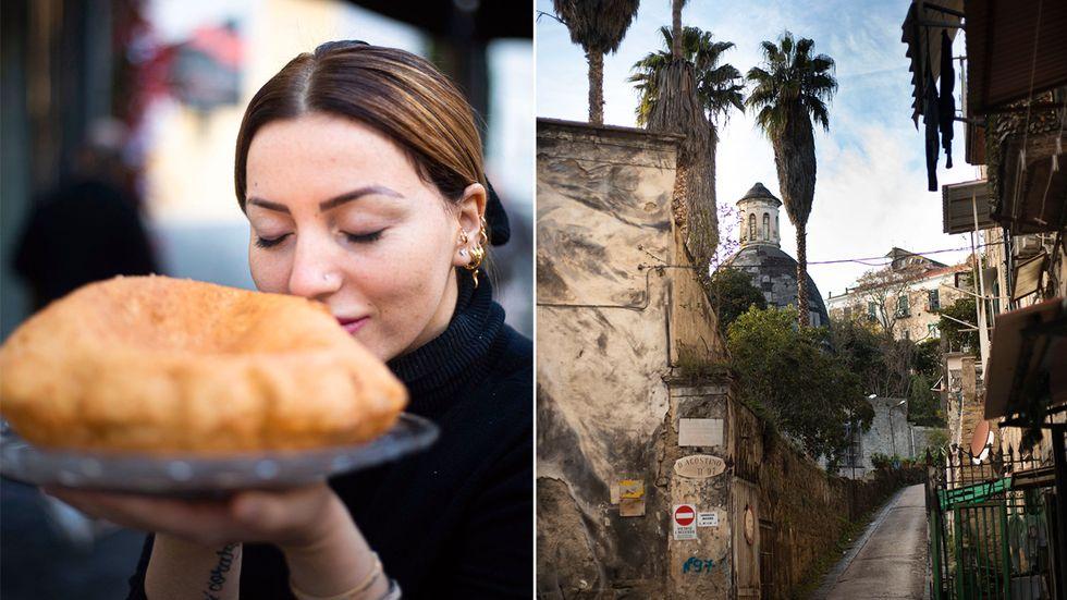 Isabella de Cham är en av få kvinnliga pizzabagare i Neapel. Mest känd är hon för sin friterade pizza.