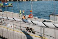 Nya Slussen är ett av Skanskas projekt som kan påverkas av en cementkris.