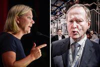 Finansminister Magdalena Andersson ger skarp kritik till Svensk Näringslivs ordförande Leif Östling.