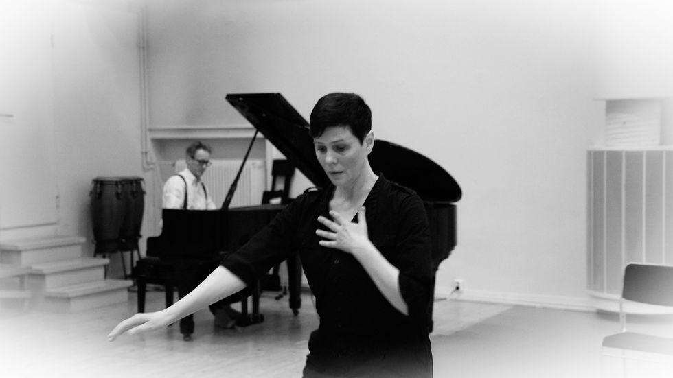 Koreografen och dansaren Teresia Björk och musikern och kompositören Matti Bye.