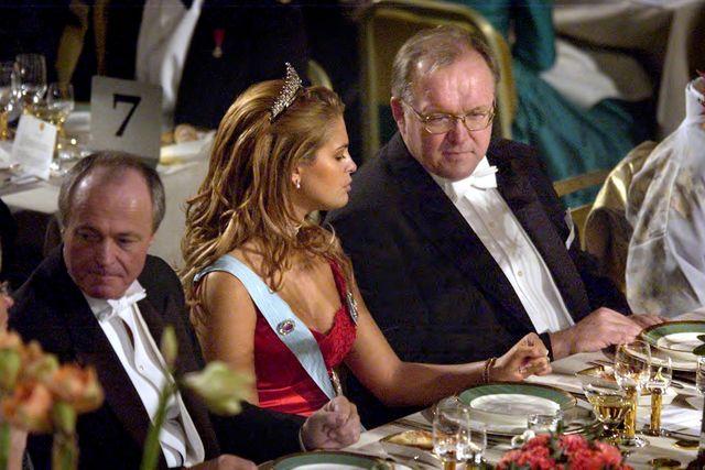 Prinsessan Madeleine och dåvarande statsministern Göran Persson, 2002.