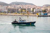 En svensk kustbevakningsbåt utanför ön Lesbos, under deltagandet i en Frontex-insats på Medelhavet 2016. Arkivfoto.