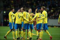 Sverige fick måljubla åtta gånger.