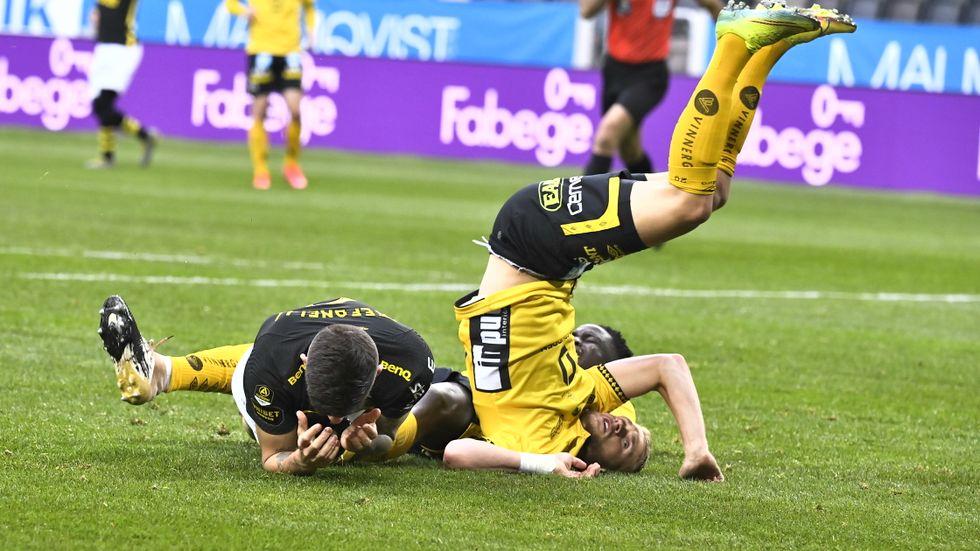 AIK:s Nicolas Stefanelli i samband med den gångna helgens möte med Elfsborg.