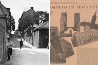 En pojke går på Lutternsgatan (Kungsgatan i dag) i slutet av 1800-talet. Läs mer ur SvD 1926 längre ner i artikeln.