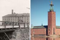 Eldkvarn stod där Stadshuset nu strålar över Stockholm.