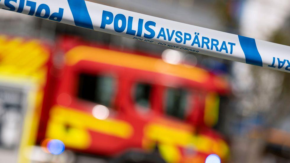 Det brann i ett lägenhetshus i Kristinehamn under fredagskvällen. Arkivbild.