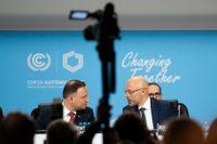 Polens president Andrzej Duda invigde COP24 – klimatmötet i Katowice – som pågår under 10 dagar. Här ses han i samtal med ordföranden för mötet, Michal Kurtyka, som även är biträdande miljöminister.