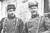 Elow Nilson (till höger) och en norsk ingenjör från Trondheim, H von Krogh.