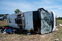 Bussolyckan skedde på Autobahn i Tyskland.