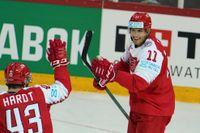 Danskt jubel. Ska nationen lugga stornationer som Sverige och Tjeckien på en slutspelsplats? Alexander True, till höger, och Nichlas Hardt jublar i segermatchen över Belarus.
