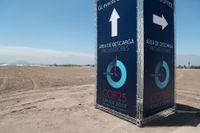 En av de skyltar som har hunnits sättas upp i Santiago inför klimatmötet COP25.