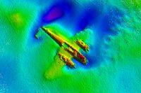 Ett Dornier Do 17 från andra världskriget har hittats gömt i sanden vid engelska Kent.