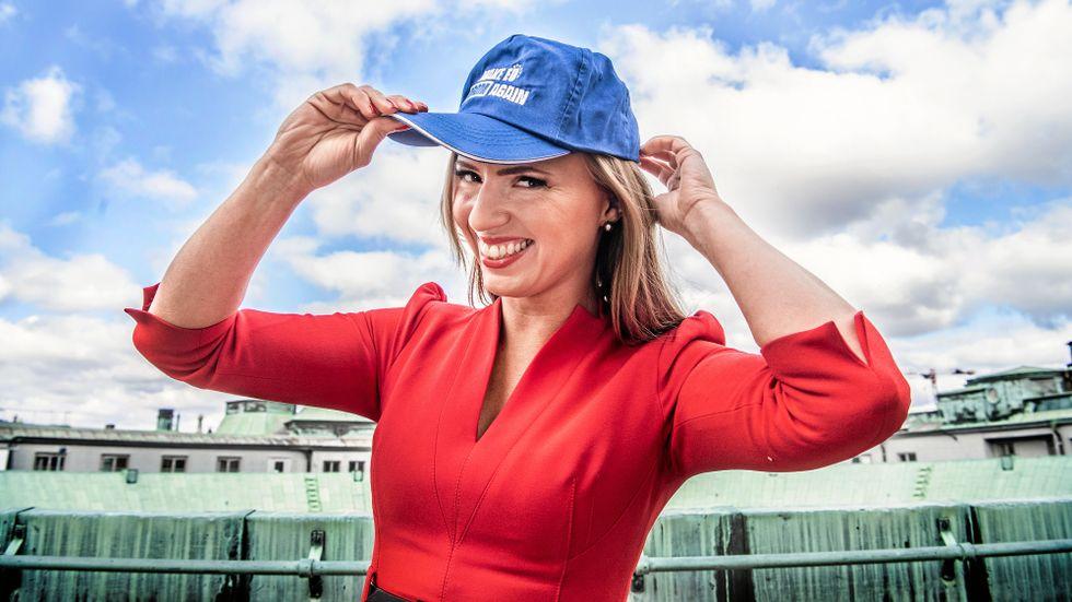 Sara Skyttedal, KD:s toppkandidat i EU-valet.