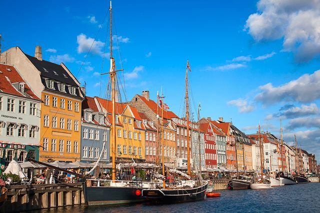 Klassisk vy över Köpenhamn.