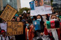 Under onsdagen genomfördes protester på flera håll i världen, bland annat i Bryssel.
