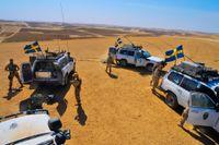 Svenska ISAF-styrkan i Mazar e Sharif i norra Afghanistan i september 2008.