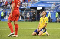 Marcus Berg var en av många besvikna svenskar efter VM-förlusten mot England i Samara.