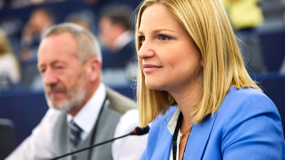 Moderaternas Arba Kokalari i EU-parlamentet. Arkivfoto.