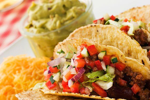 Tacos är en populär helgrätt.