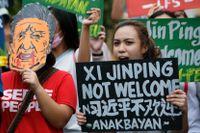 Motstånd mot Xi Jingping i Filippinerna.
