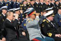 President Putin närvarade vid den ryska flottans parad i söndags.