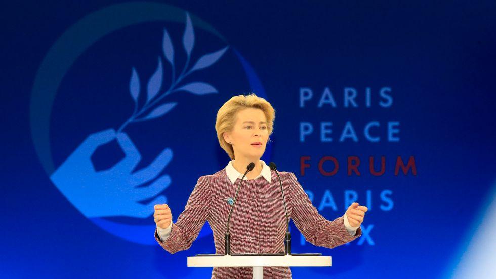 Tyska Ursula von der Leyen hoppas snart ta över som ordförande i EU-kommissionen. Arkivfoto.
