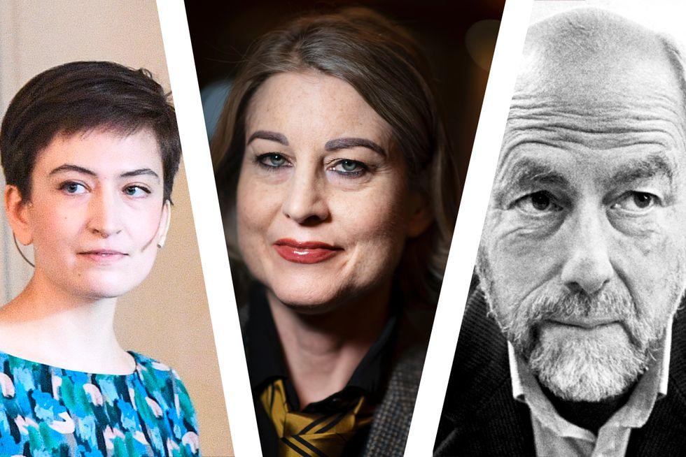 Fr v: Rebecka Kärde, Linda Skugge och Leif Zern.