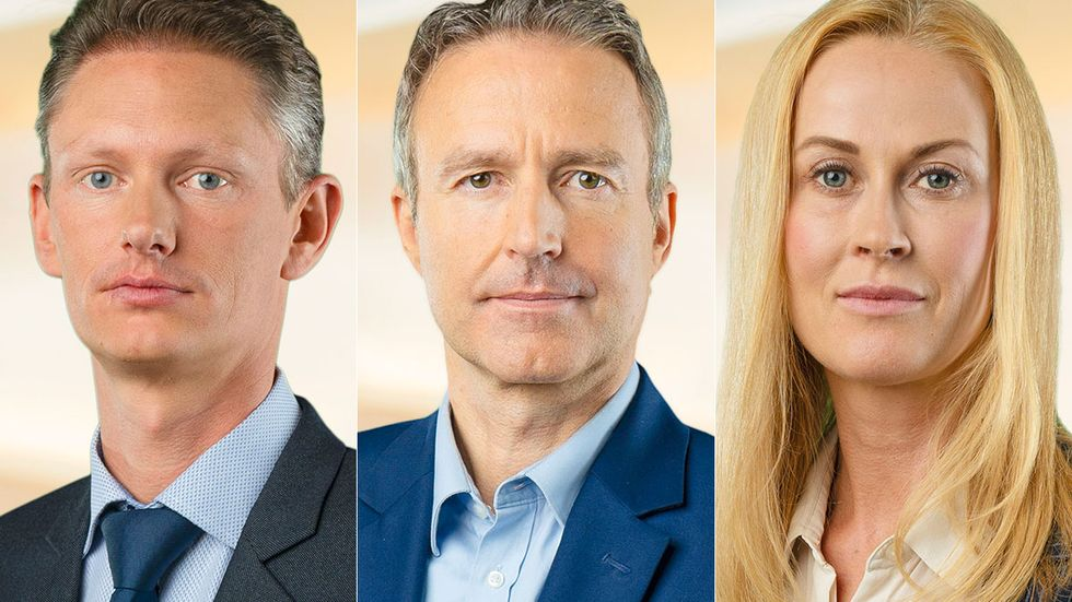 Matheus Enholm, Mikael Strandman och Katja Nyberg.