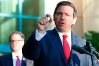 Republikanen Ron DeSantis är guvernör i Florida. Arkivbild.