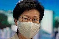Hongkongs högsta politiker Carrie Lam.