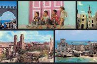 "Omslagsbilder från ""Mogadishu then and now""."