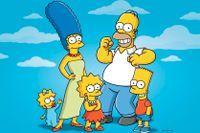 Familjen Simpson: Maggie, Marge, Lisa, Homer och Bart.
