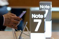 Mobiltelefonen Galaxy Note 7 stoppades av Samsung.