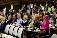 En bild från Centerpartiets stämma i Karlstad den 27 september.