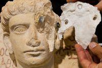 Ett konstverk som förstörts i Palmyra restaureras.