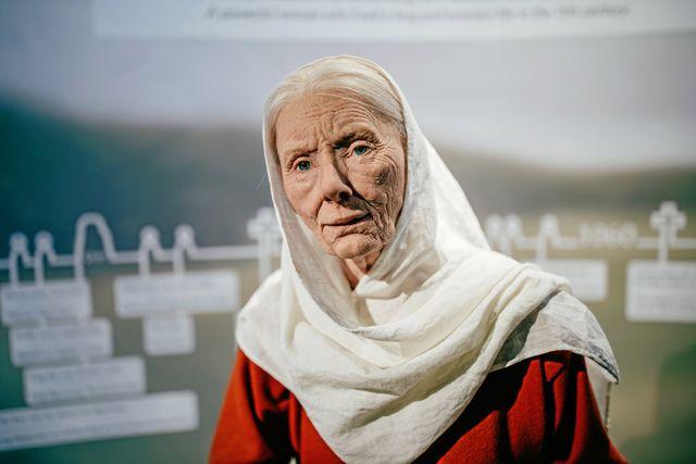 Modell av hur Estrid Sigfastsdotter tros ha sett ut, en känd vikingakvinna. Foto: Adam Wrafter