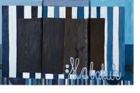 """Tal R, """"Habakuk"""", akryl och pigment på duk, 2017."""