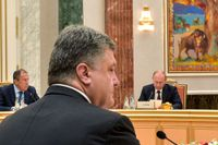 Porosjenko och Putin möttes i Minsk.