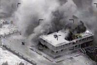 USA visar nu bilder från tisdagens bombning av IS i Syrien.