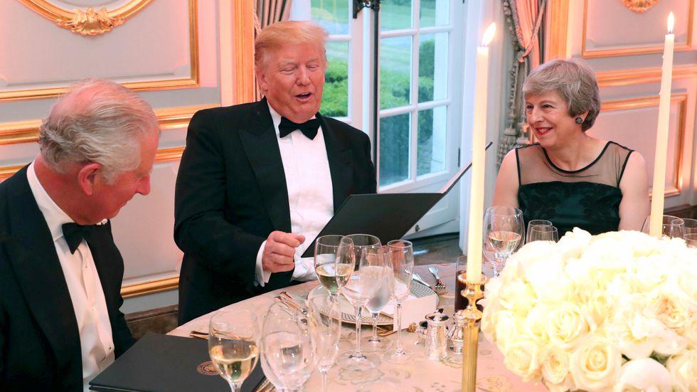 Trump på statsbesök i veckan hos Storbritanniens premiärminister Theresa May.