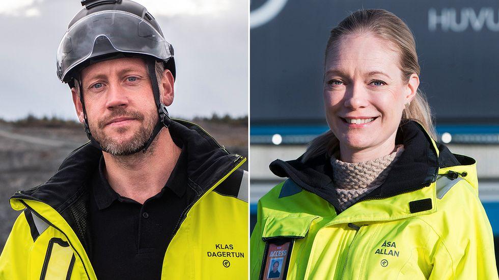 Klas Dagertun och Åsa Allan, vd respektive vice vd för gruvbolaget Kaunis Iron.